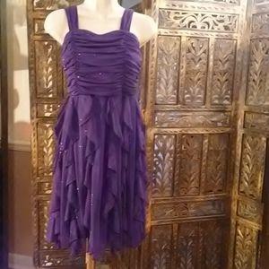 dark purple dress that Shimmers w/glitter